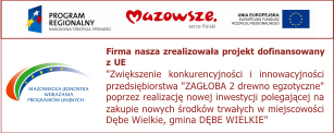 Zagłoba - informacja o zrealizowaniu projektu dofinansowania z UE